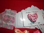 Изготовление свадебных карманных календариков в Липецке на заказ.